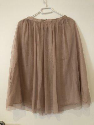Zara Basic Tulle Skirt rose-gold-coloured-dusky pink