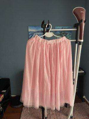 Tiulowa spódnica jasny różowy