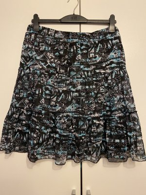 Gina Benotti Tiulowa spódnica czarny-jasnoniebieski