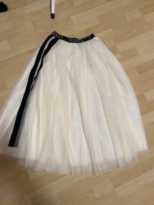10 Days Tulle Skirt natural white-black mixture fibre