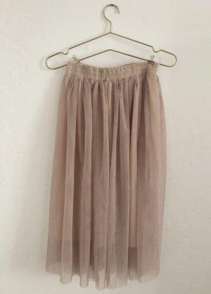 Edited Tulle Skirt nude
