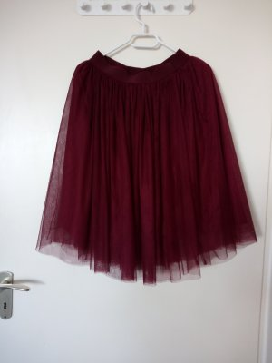 Tulle Skirt dark red polyester
