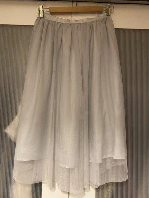 Zara Tule rok lichtgrijs