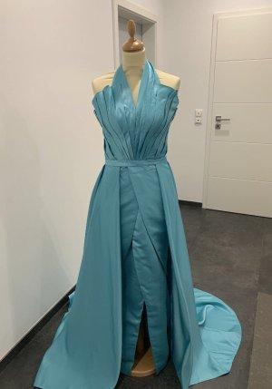 Türkis blaues Abendkleid neu