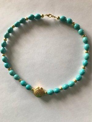 Handarbeit Collier turchese-oro