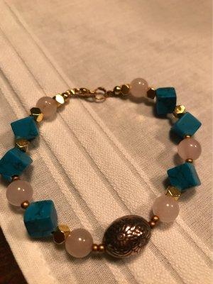 HANDMADE BY GERMANY Bransoletki z perłami Wielokolorowy
