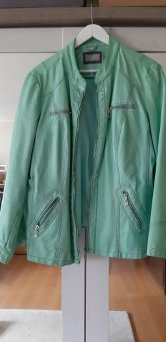 Canda Faux Leather Jacket pale green-mint