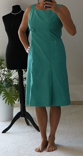 Betty Barclay Robe empire turquoise-vert menthe coton