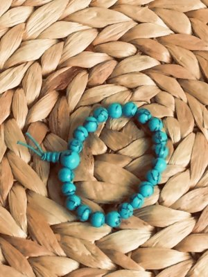 Türkis (rekonstruiert) Perlenarmband Powerarmband