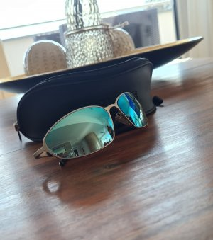 Police Oval Sunglasses turquoise-silver-colored