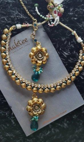 Jewellery Set gold-colored-petrol