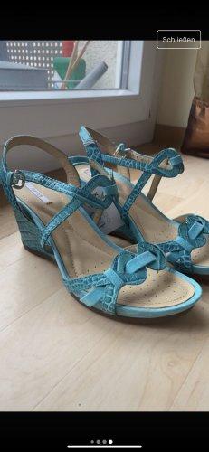 Geox Respira Sandały japonki z rzemykami turkusowy-jasnoniebieski