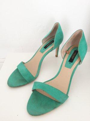 Türkise High Heels mit Pfennigabsatz von ZARA Basic Collection