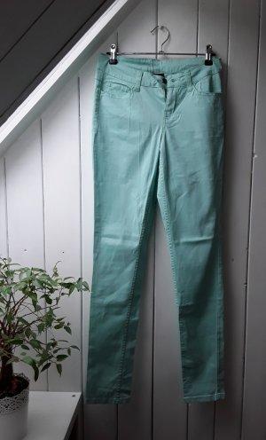 Pieces Pantalón de tubo turquesa-verde grisáceo