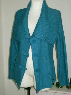 Wissmach Veste en laine turquoise-bleu pétrole