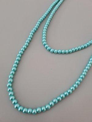 türkise Perlenkette lang vintage