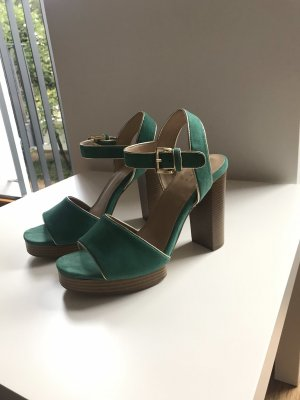 Another A Platform Sandals turquoise-gold-colored