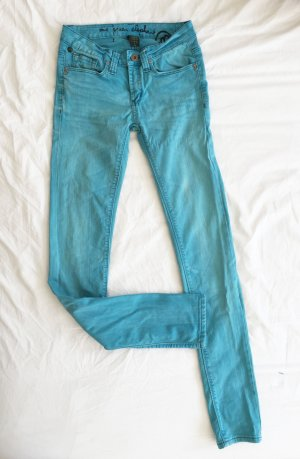 Türkise Skinny Jeans von one green elephant