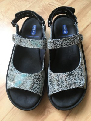 Wolky Comfort Sandals light blue-turquoise leather