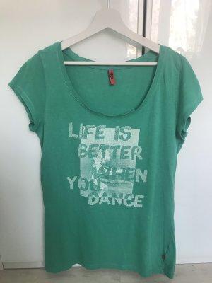 Türkisenes T-Shirt mit Druck von S.Oliver