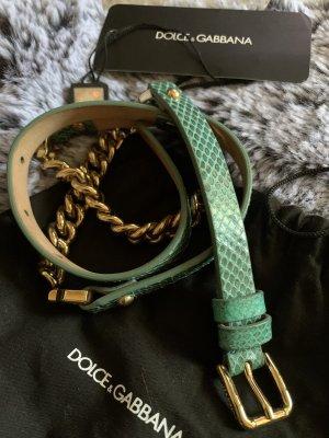 Dolce & Gabbana Cintura con catena multicolore Pelle