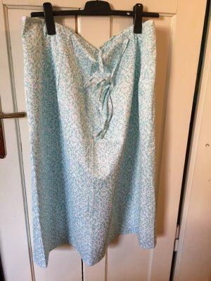 Handmade Wraparound Skirt turquoise-white