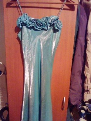 -8- Venice Evening Dress turquoise silk