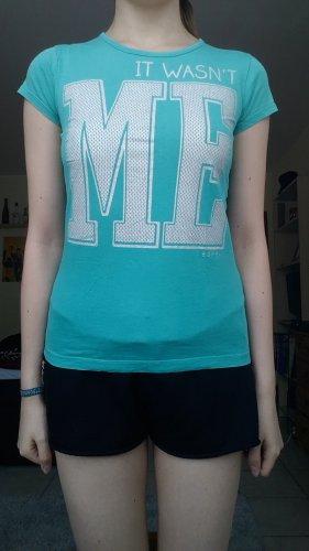 Türkises Print-Shirt
