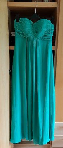 Türkises schlichtes Abendkleid von Laona Peek&Cloppenburg Größe 38