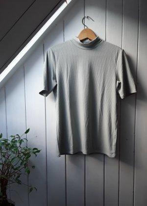 H&M Koszulka z golfem jasnoniebieski-szaro-zielony