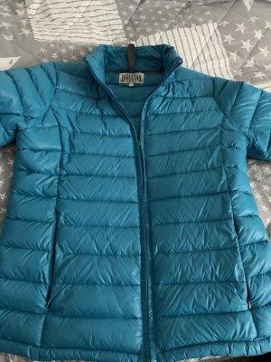 Türkisfarbene Daunenjacke von Blaumax Größe XL