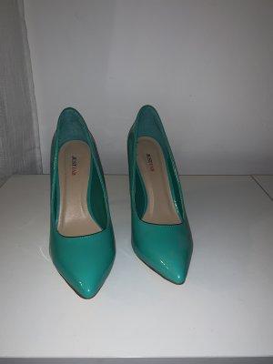 Türkisfarbene High Heels