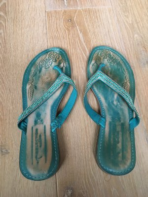 Selection by s.oliver Toe-Post sandals turquoise-green