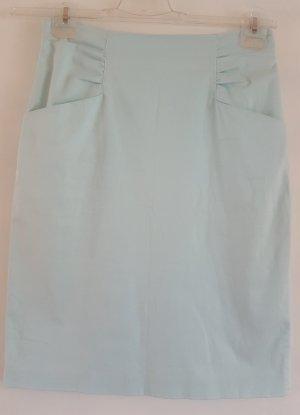 Apriori Jupe crayon bleu clair tissu mixte