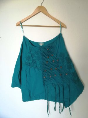 Falda asimétrica turquesa Algodón