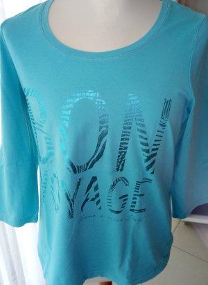 Türkisfarbenes Langarm-T-Shirt von Bonita Gr.L