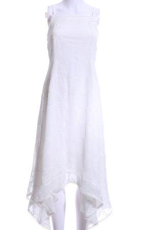 Tularosa Blusenkleid weiß Spitzenbesatz
