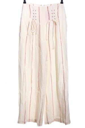Tularosa Bundfaltenhose creme-pink Streifenmuster Casual-Look