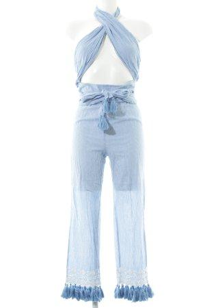 Tularosa Jumpsuit weiß-blau Streifenmuster