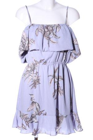Tularosa Minikleid blau-hellgrau Blumenmuster Casual-Look