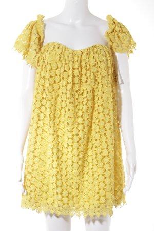 Tularosa schulterfreies Kleid dunkelgelb Beach-Look