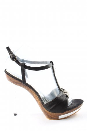 Tulipano High Heels schwarz-braun Casual-Look