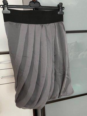 Zara Woman Gonna pieghettata grigio-grigio chiaro Poliestere