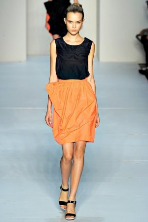 Marc by Marc Jacobs Tulip Skirt neon orange polyester