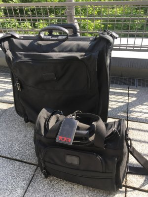 Tumi Suit Bag black nylon