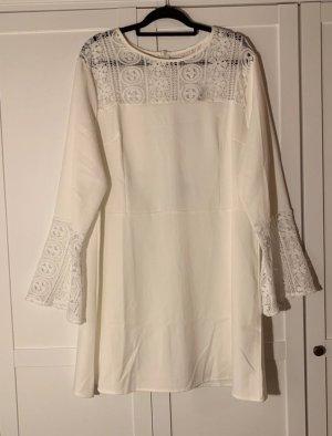 asos curve Bluzka tunika biały-w kolorze białej wełny