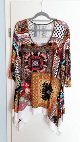 Sinne design Camicia a tunica multicolore