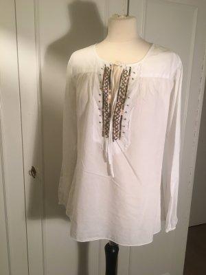 Blusa de túnica blanco
