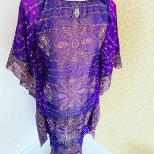 hand gemacht Tunic dark violet