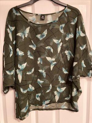 17&co Blusa de túnica multicolor